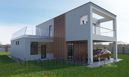 проект дома в стиле хай тек